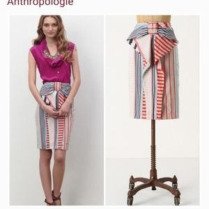 ANTHROPOLOGIE Eva Franco art striped pencil skirt